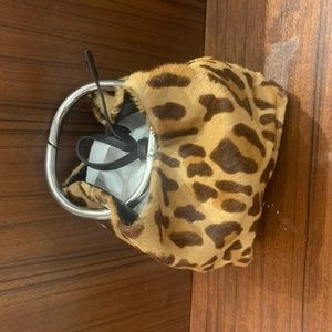 Prada mini handle Animal Print clutch